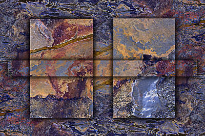 Rectangles Photograph - Between Tides Number 12 by Carol Leigh