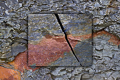 Rectangles Photograph - Between Tides Number 15 by Carol Leigh