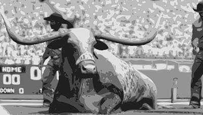Heart Of Texas Digital Art - Bevo Bw6 by Scott Kelley