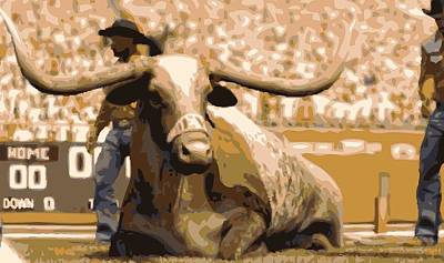 Heart Of Texas Digital Art - Bevo Color 16 by Scott Kelley