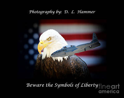 Beware The Symbols Of Liberty Art Print by Dennis Hammer