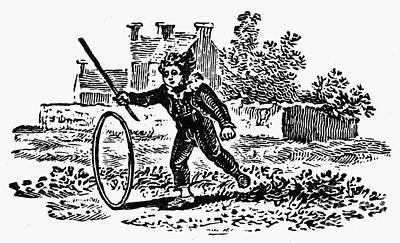 Bewick: Boy With Hoop Art Print by Granger