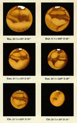 Beyer's Observations Of Mars Art Print