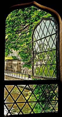 Beyond The Castle Window Art Print