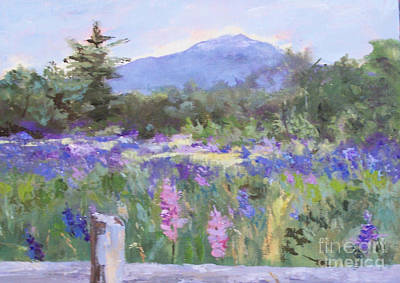 Mt. Monadnock Painting - Beyond The Fence by Alicia Drakiotes