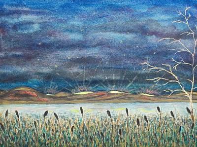 Beyond The Horizon Art Print by Jeanette Stewart