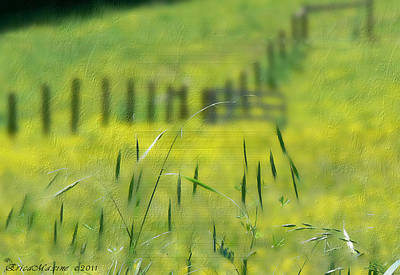 Art Print featuring the photograph Beyond The Weeds by EricaMaxine  Price