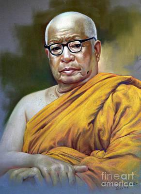 Painting - Bhudhathas Bhikku by Chonkhet Phanwichien
