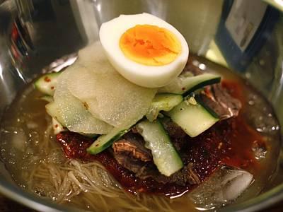 Bibim Naengmyeon - Korean Cold Noodle Soup Art Print by Copyright (c) Jamie Frater