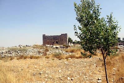 Biblical Bethel Tower In Beitin Village Original by Munir Alawi