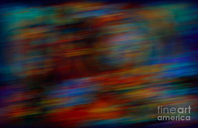 Abstract Design Digital Art - Bice Racer In The Home Stretch by Klara Acel