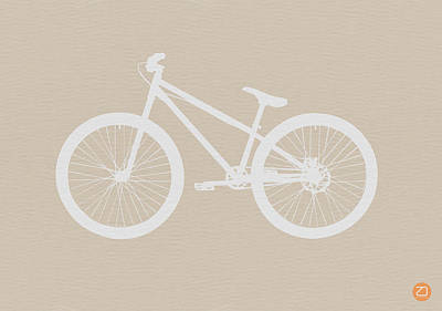Transportation Digital Art - Bicycle Brown Poster by Naxart Studio