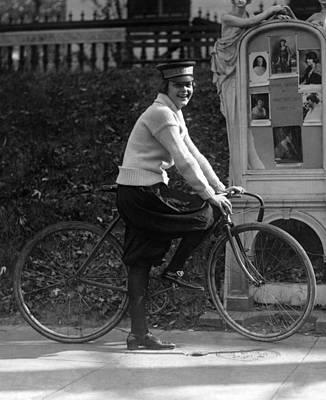 Bicycle. Julia Obear, Bike Messenger Art Print by Everett