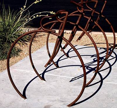 Photograph - Bicycle Rack by Regina Arnold