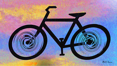Tye Dye Photograph - Bicycle Shop by Bill Cannon