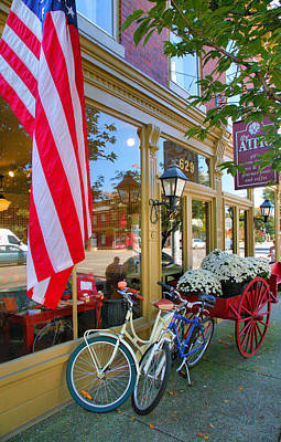 Bicycles And Storefront Art Print by Steven Ainsworth
