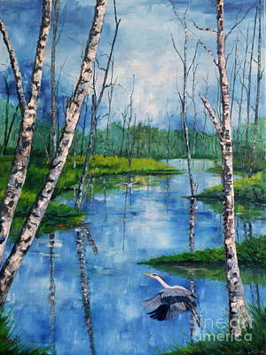 Painting - Biebza Marsh by Phil Davis
