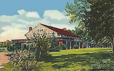 Painting - Bienvenue Country Club In Rocky Mount N C by Dwight Goss