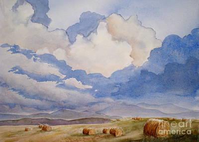 Bales Painting - Big Alberta Sky by Mohamed Hirji