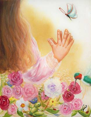 Painting - Big And Small God Blessed Them All  by Joni McPherson
