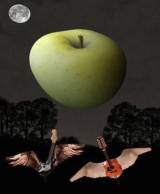 Scream World Tour Digital Art - Big Apple Rocks by Eric Kempson