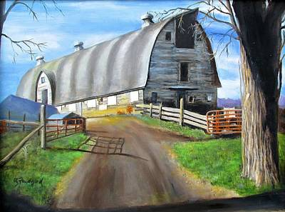 Painting - Big Barn At Kripplebush by Oz Freedgood