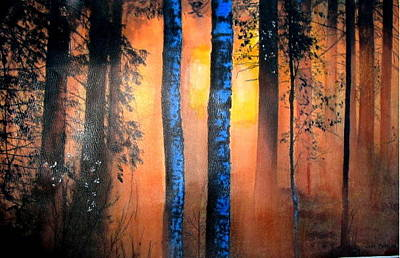 Painting - Big Bear Fire by John Brisson
