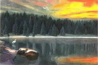 Pastel - Big Bear Holiday by John Brisson