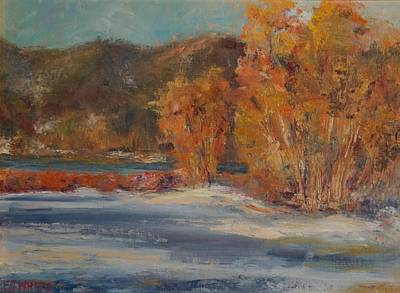 Painting - Big Bear Winter by Edward White