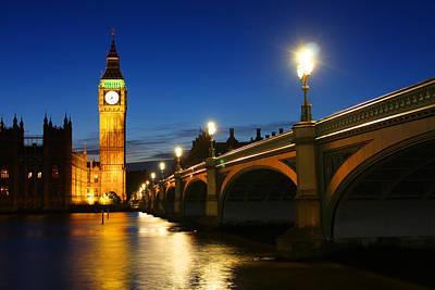 Big Ben And Westminster Bridge Art Print by Dan Breckwoldt