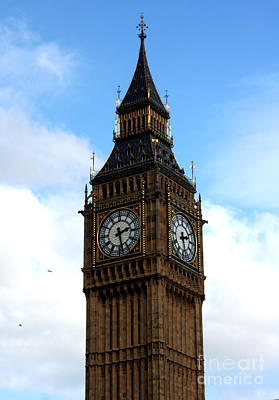 Westminster Photograph - Big Ben by Heather Applegate