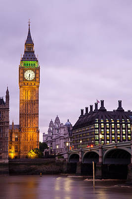 Big Ben In Twilight Art Print by Adam Pender