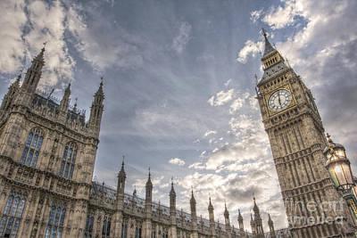 Hdr Photograph - Big Ben by Lee-Anne Rafferty-Evans