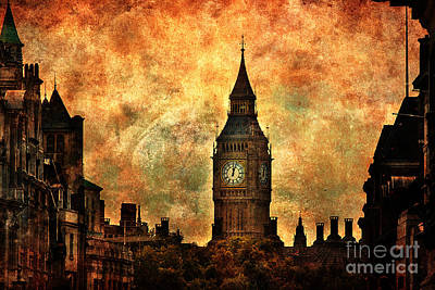 Photograph - Big Ben View From Trafalgar Square by Yhun Suarez