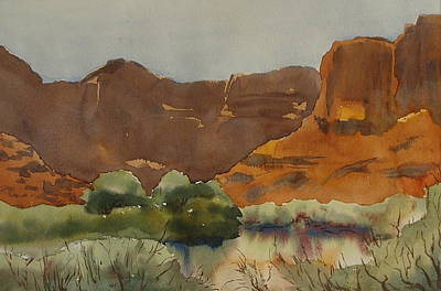 Painting - Big Bend On The Colorado River Moab Utah by Zanobia Shalks