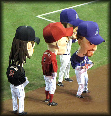 Bobblehead Photograph - Big Bobble Heads by Diane Wood
