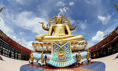 Big Buddha In Wat Phra Yai Temple Koh Samui Island Original by Anek Suwannaphoom