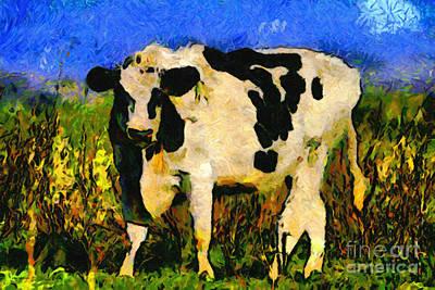 Big Bull 2 . 7d12437 Art Print by Wingsdomain Art and Photography