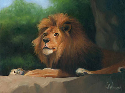 Art Print featuring the painting Big Cat by Joe Winkler