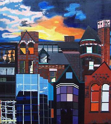 Art Print featuring the painting Big City by Krista Ouellette