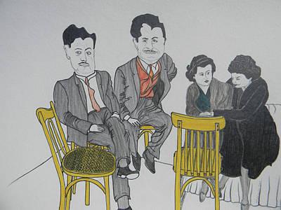 Lebanon Art Drawing - Big Egos by Marwan George Khoury