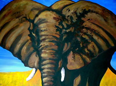 Republican Painting - Big Elephant by Pete Maier