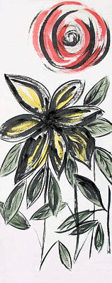 Art Print featuring the painting Big Flower by Alethea McKee