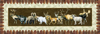 Mountain Goat Painting - Big Game Lodge by JQ Licensing