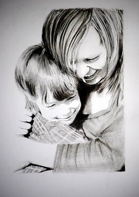 Drawing - Big Hug by Lynn Hughes