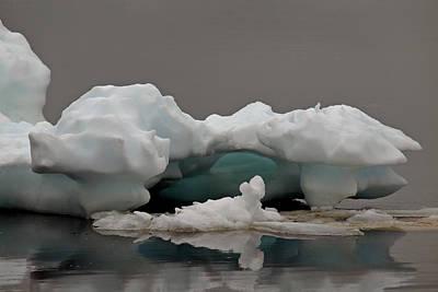 Big Ice Little Ice Art Print by Stan Wojtaszek