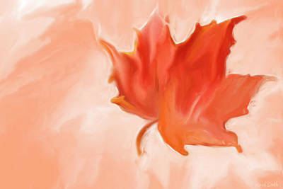 Maple Leaf Art Painting - Big Leaf Maple by Heidi Smith