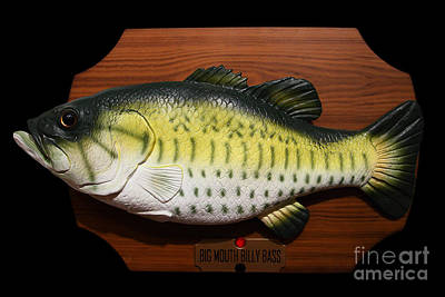 American Pastime Photograph - Big Mouth Billy Bass . 7d13533 by Wingsdomain Art and Photography