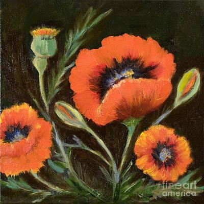 Big Orange Poppy Art Print