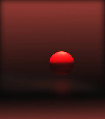 Art Print featuring the photograph Big Red Ball by Deborah Smith
